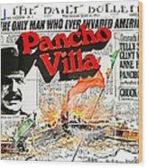 Poster Telly Savalos Pancho Villa In Pancho Villa 1972-2013 Wood Print