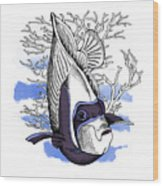 Poster With Image Of Fish Emperor Wood Print