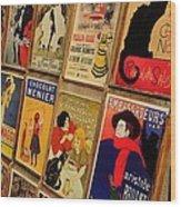 Posters In Paris Wood Print