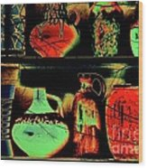 Pot Culture Wood Print