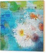Pot Of Daisies 02 - J3327100-bl1t22a Wood Print