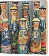 Pot People Wood Print by Catherine Walker