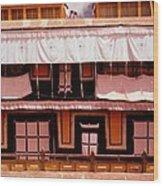 Potala Palace Rooftop - Lhasa Tibet Wood Print