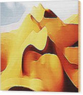 Potato Chip Mountains Wood Print