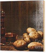 Potatoes Wood Print