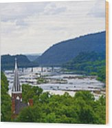 Potomac River At Harpers Ferry Wood Print