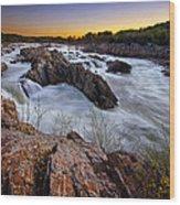 Potomac Rush Wood Print