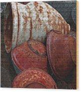 Pots And Pans Wood Print