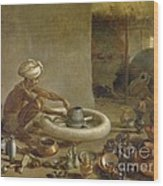 Potter In India, 1790s Wood Print
