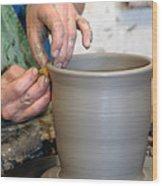 Potters Hands Wood Print