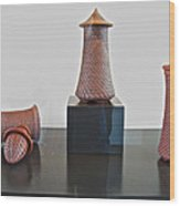 Pottery Artist Who Uses Bottle Openers In Designing His Works Of Art In Maryhill Museum Of Art-wa Wood Print