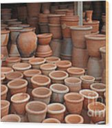 pottery in Madagascar Wood Print