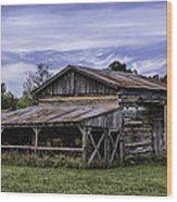 Pottsville Arkansas Historic Log Barn Wood Print
