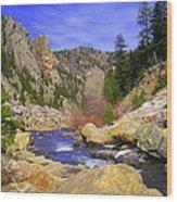 Poudre Canyon Wood Print