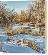 Poudre Dusk Wood Print