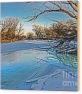 Poudre Ice Wood Print by Baywest Imaging