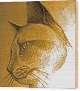 Pouncer Wood Print by Rebecca Christine Cardenas