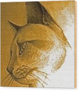 Pouncer Wood Print