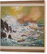 Pounding Surf Wood Print