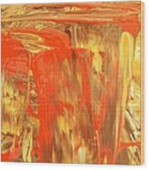 Pouring Red Wood Print