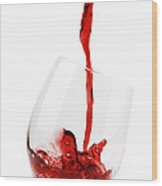 Pouring Red Wine Wood Print