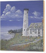 Poverty Island Lighthouse Wood Print