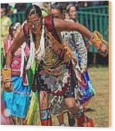 Pow Wow 64 Wood Print