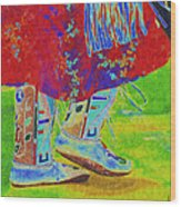 Pow Wow Dancing Wood Print