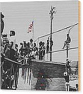 Pow Wow Days July 4th Rodeo Navajos Flagstaff Arizona 1969-2009  Wood Print