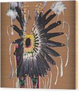 Pow Wow Regalia - Orange Wood Print
