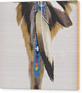 Pow Wow Regalia - White Wood Print