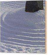 Powder In Zen One Wood Print by Feile Case