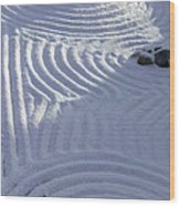 Powder In Zen Two Wood Print