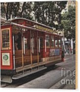 Powell And Market Cable Car Wood Print