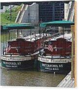 Powell Boats Wood Print