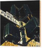 Powell Street Wood Print