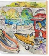 Power Boats World Championship In Barca De Alva 03 Wood Print