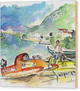 Power Boats World Championship In Barca De Alva 04 Wood Print