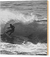 Power Carve Surfer Photo Wood Print by Paul Topp