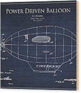 Power Driven Balloon Patent Wood Print