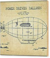 Power Driven Balloon Patent-vintage Wood Print