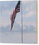 Power Flag Wood Print