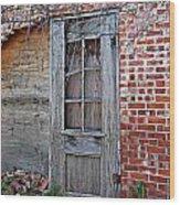 Power House Door Wood Print