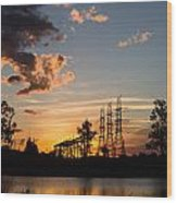 Power In The Sunset Wood Print