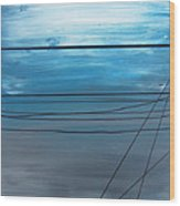 Power Lines 14 Wood Print