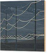 Power Lines Wood Print
