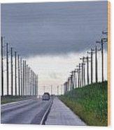 Power Lines57 Wood Print