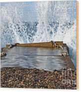 Power Of The Sea Wood Print