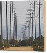 Power Poles  Wood Print