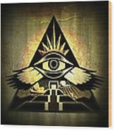 Power Pyramid Wood Print by Milton Thompson